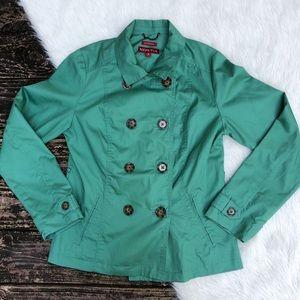 Merona Green Pea Coat Jacket